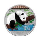 Kiina 10 ¥ 2016 Panda hopearaha 1oz väritetty