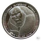 Kongo 5000 frangia 2018 Gorilla 1 oz Ag