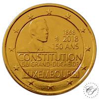 Luxemburg 2 € 2018 Perustuslaki 150 vuotta kullattu