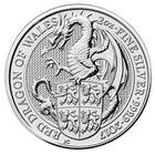 Britannia 5 £ 2017 Queen's Beast Dragon 2 Unssia Ag