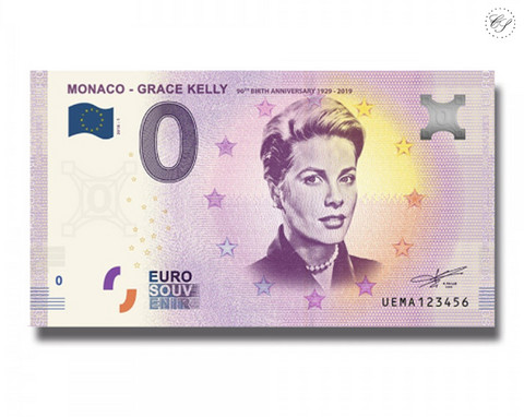 Monaco 0 euro 2018 Grace Kelly UNC