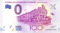 Suomi 0 euro 2017 Suomen Rautatiemuseo I UNC