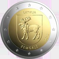 Latvia 2 € 2018 Zemgale