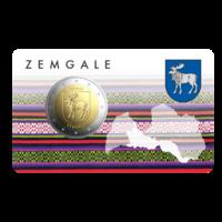 Latvia 2 € 2018 Zemgale BU coincard