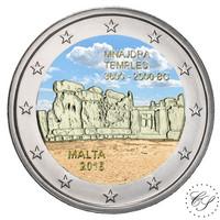 Malta 2 € 2018 Mnajdran temppelit väritetty