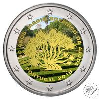 Portugali 2 € 2018 Ajudan kasvitieteellinen väritetty