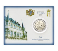 Luxemburg 2 € 2018 Guillaume I BU coincard