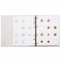 Leuchtturm Matrix-välilehti kolikkokehyksille, valkoinen, 10-pack