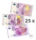 Mix 0 euro 2017 25 erilaista seteliä UNC