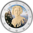 San Marino 2 € 2018 Gian L. Bernini väritetty