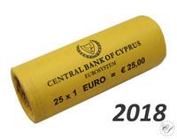 Kypros 1 € 2018 rulla, lyöntimäärä 100.000 kpl