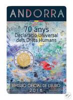Andorra 2 € 2018 Ihmisoikeudet BU coincard