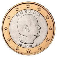 Monaco 1 € 2018 Albert II UNC