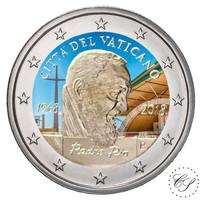 Vatikaani 2 € 2018 Padre Pion 50. vuosipäivä väritetty