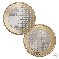 Slovenia 3 € 2018 Ensimmäinen maailmansota 100 v.