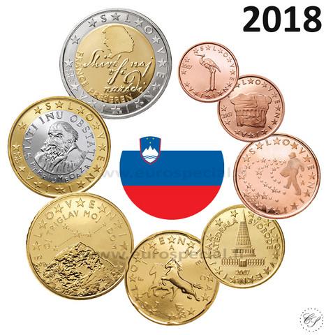 Slovenia 1s - 2 € 2018 UNC
