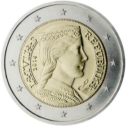 Latvia 2 € 2018 Milda BU