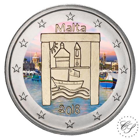 Malta 2 € 2018 Cultural Heritage väritetty