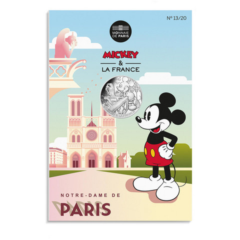 Ranska 10 € 2018 Mikki Hiiri - Notre Dame 13/20 coincard