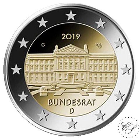 Saksa 2 € 2019 Bundesrat 70 vuotta