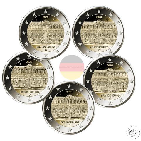Saksa 2 € 2020 Brandenburg & Sanssouci A-J