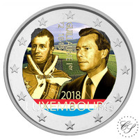 Luxemburg 2 € 2018 Guillaume I väritetty