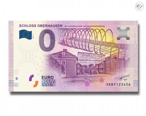 Saksa 0 euro 2018 Oberhausenin linna UNC