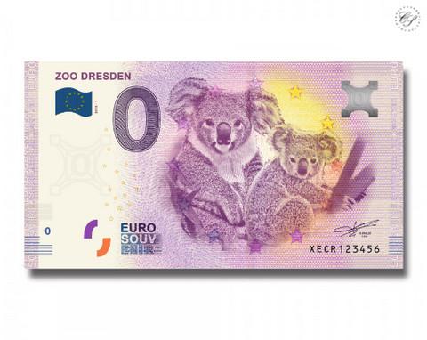 Saksa 0 euro 2018 Zoo Dresden UNC