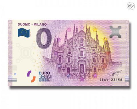 Italia 0 euro 2018 Duomo Milano UNC
