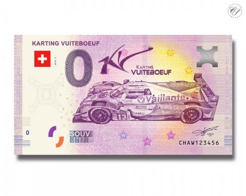 Sveitsi 0 euro 2018 Karting Vuiteboeuf UNC