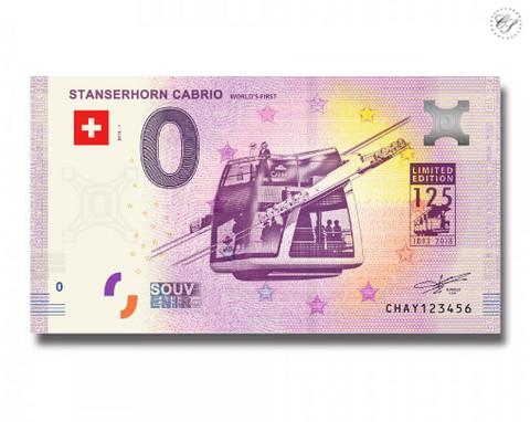 Sveitsi 0 euro 2018 Stansern Cabrio UNC
