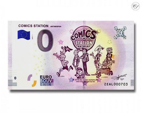 Belgia 0 euro 2018 Comic Station Antwerpen UNC