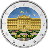 Saksa 2 € 2019 Bundesrat 70 v. A-J väritetty