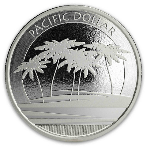 Fiji 1 $ 2018 Pacific Dollar 1 oz Ag