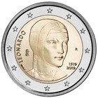Italia 2 € 2019 Leonardo da Vinci 500 v.