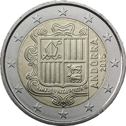 Andorra 2 € 2018 Vaakuna UNC
