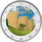 Espanja 2 € 2019 Ávilan kehämuuri väritetty