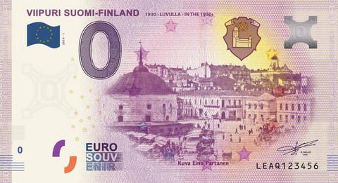 Suomi 0 euro 2019 Viipuri 1930-luvulla