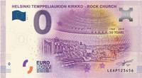 Suomi 0 euro 2019 Temppeliaukion kirkko - Helsinki