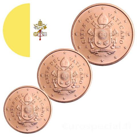 Vatikaani 1, 2 & 5 senttiä 2019 BU