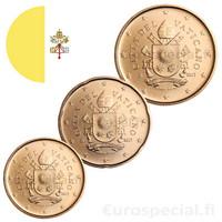 Vatikaani 10, 20 & 50 senttiä 2019 BU