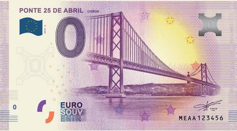 Portugali 0 euro 2019 Ponte 25 de Abril UNC
