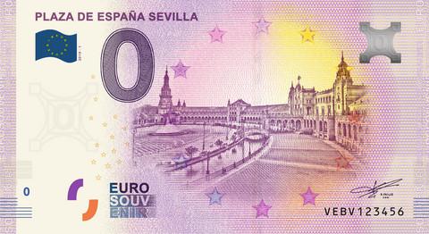 Espanja 0 euro 2019 Plaza de Espana Sevilla UNC