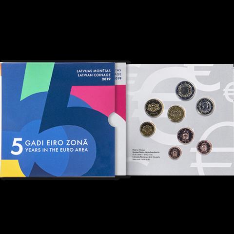 Latvia 2019 BU rahasarja Euro 5 vuotta