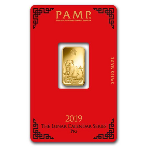 Kultalaatta 5g PAMP-Suisse Lunar Year of the Pig
