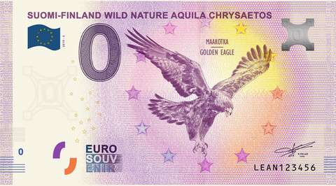 Suomi 0 euro 2019 Villi luonto - Kotkaseteli