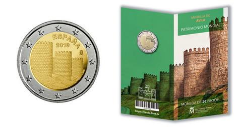 Espanja 2 € 2019 Ávilan kehämuuri, Proof