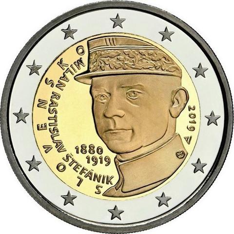 Slovakia 2 € 2019 Milan Rastislav Štefánik