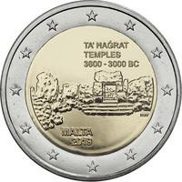 Malta 2 € 2019 Ta' Haġratin temppelit