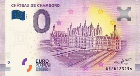 Ranska 0 euro 2019 Chateau de Chambord UNC